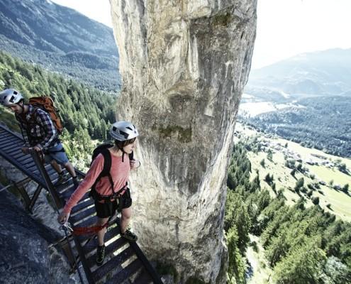 Klettersteig Flims : Klettersteig pinut u2013 camping flims